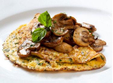 Spinach & Mushroom Omlette