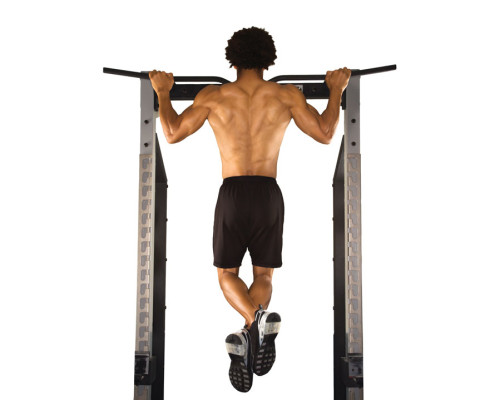Man doing pull-up
