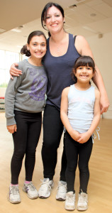 Jodie Andary with her daughters