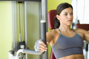 Women using weights