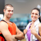 Guy and girl in gym